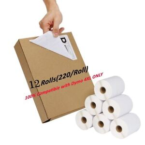 12 Rolls Dymo 4xl 220 roll Direct Thermal Shipping Labels 4x6 1744907 Compatible