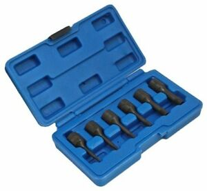 S 1036b 6pc Damaged Broken Screw Bolt Nut Extractor Removal Remover Set Snap Off