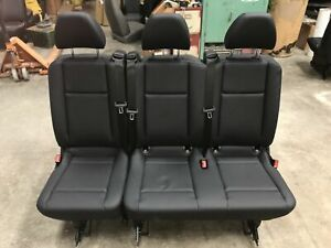 2016 2019 Mercedes Benz Metris Van Black Leather 3 Passenger Split Bench Seat