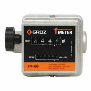 Groz Mechanical Fuel Meter 3 4 Npt Low To Medium Viscosity Fluids