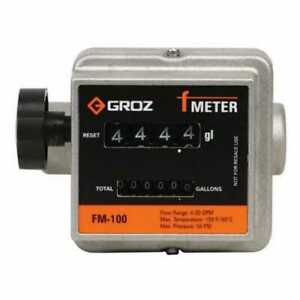 Groz Mechanical Fuel Meter 1 Npt Low To Medium Viscosity Fluids