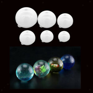 6 Sizes Silicone Ball Mold Round Sphere Mould DIY Resin Craft Ornament Tool