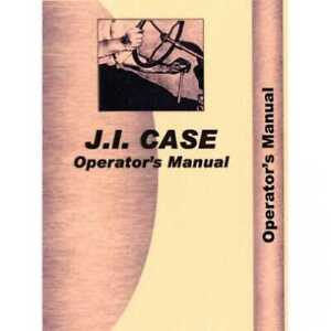Operator s Manual 830 Compatible With Case 840 730 830