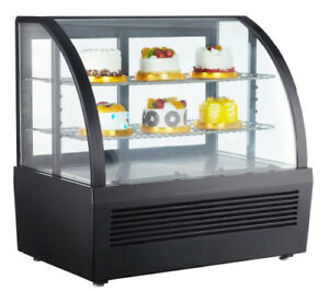 110v Countertop Refrigerated Cake Showcase Commercial Diamond Glass Display Case
