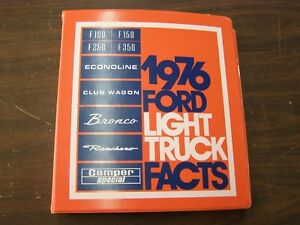 Oem Ford 1976 Dealer Truck Facts Book Pickup F100 Bronco Econoline Ranchero Van