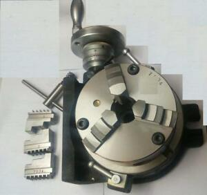 Hv6 Rotary Table 150 Mm 6 Inches 125 Mm 3 Jaws Self Centering Chuck