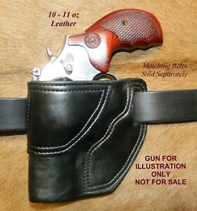 Gary C s Avenger Owb Left Hand Holster For Smith Wesson L Frame 3 Leather