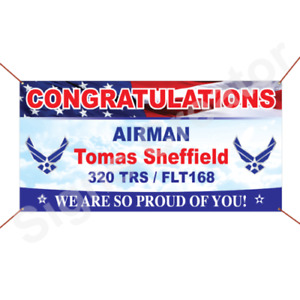 Custom Congratulations Airman We Are So Proud Of You Welcome Home Banner