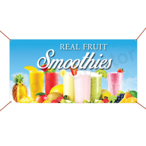 Real Fruit Smoothies Banner Business Advertising Sign Event Party Banner