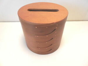 Shaker Boxes Shaker Tall Round Wood Tissue Box Pantry Box Clearance