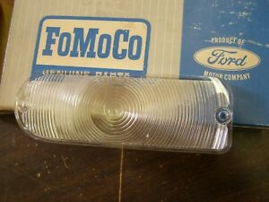 Nos Oem Ford 1967 Thunderbird Park Light Lamp Lenses Pair T Bird