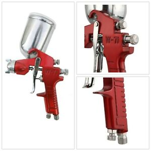Gravity Feed Spray Gun Metal Aluminum Swivel Cup Four Finger Trigger Hand Tool
