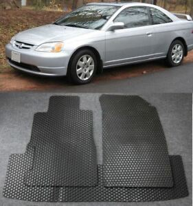 For 2001 2005 Honda Civic 2 4d All Weather Black Or Beige Floor Mats Front Rear