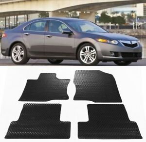 For 2009 2014 Acura Tsx All Weather Black Or Beige Rubber Floor Mats Front Rear