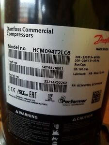 Danfoss Compressor Model Hcm094t2lc6