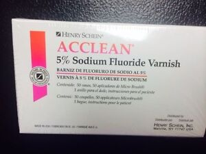 Dental Varnish 5 Sodium Fluoride Varnish Cherry Flavor 50 box