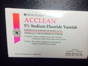 Dental Varnish 5 Sodium Fluoride Varnish Raspberry Flavor 50 box Made In Usa