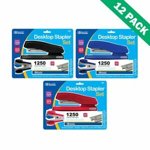 Office Staplers Colored Bazic Desktop Stapler And Remover Sets 12 Units Per Box