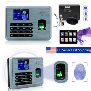 3 Inch Multi Biometric Tft Fingerprint Attendance Recorder Time Clock tcp ip usb