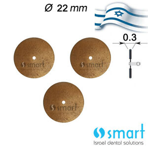 Lot X 3 Dental Lab Sintered Diamond Disc Israel Made 22 Mm Ceramic Inflexible