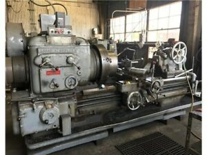 Lodge Shipley Hollow Spindle Lathe 26 Chuck 15 x48 Vdf Drive 25 Hp 338 Rpm