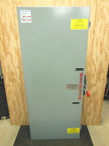 Cutler Hammer Double Throw Transfer Safety Switch Dt365ugk 400a 600v 3 Pole