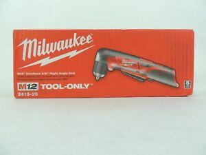 Milwaukee 2415 20 M12 Cordless 3 8 Right Angle Drill