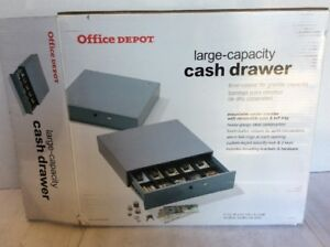 Office Depot Large Capacity Mountable Cash Drawer W removable Coin
