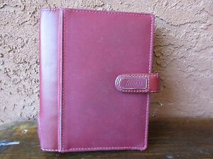 Filofax Sketch Pocket Red Organizer 6 Rings With Card Slots And Pockets