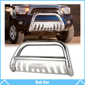 Chrome Bull Bar Push Bumper Grill Grille Guard Fits For 2005 2015 Toyota Tacoma