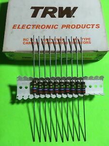Trw 1 2w Carbon Composition Resistor Carbon Comp 5 10pc You Pick Value Usa