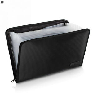 Fireproof File Folder Fire And Water Resistant Money Document Bag With A4