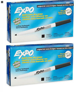 Expo Original Dry Erase Markers Fine Point 24 pack Black 2 X 12 pack