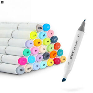 Ohuhu 48 color Dual Tips Permanent Marker Pens Art Markers For Kids