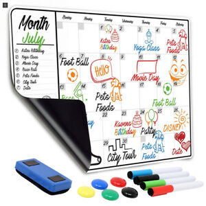 Monthly Magnetic Dry Erase Calendar 13 X 19 Large White Board For