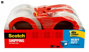 Scotch Heavy Duty Shipping Packaging Tape With Refillable Dispensers 3