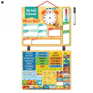 2018 Kids Daily Calendar With 134 Learning Magnets Hang On Wall Or Fridge