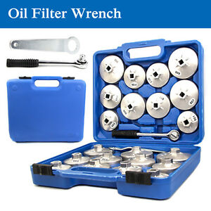 23 Pc 1 2 Dr Aluminum Alloy Cup Type Oil Filter Cap Wrench Socket Removal Set