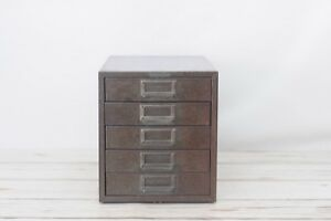 Vintage Gray Metal File Cabinet Storage 5 Drawer Metal Cabinet Parts Cabinet