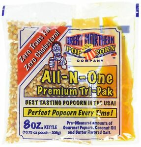 Great Northern All n one Premium Tri pack Popcorn 8oz Pack Of 6