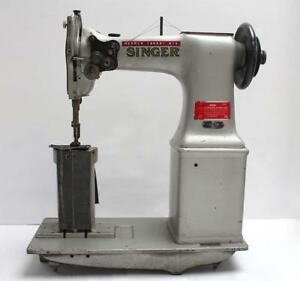 Singer 52w22 Post Bed 2 needle 1 4 Gauge Industrial Sewing Machine Head Only