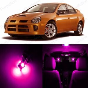 8 X Pink Led Interior Light Package Kit For Dodge Neon 2000 2005 Pry Tool