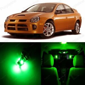 8 X Green Led Interior Light Package Kit For Dodge Neon 2000 2005 Tool