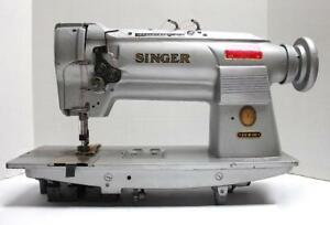 Singer 212w140 2 needle Feed 3 16 Gauge Industrial Sewing Machine Head Only