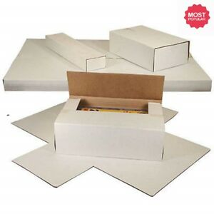 50 Lp Premium Record Album Mailers Book Box Variable Depth Laser Disc Mailers