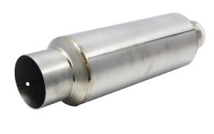 Obx Universal Racing Titanium Muffler With 4 Straight Cut Tip And 2 5 Inlet