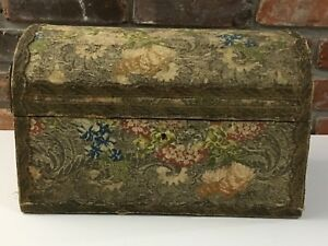 French Bridal Marriage Box 1700s Fabric1800s Box Domed Top Provence