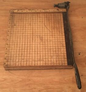Vintage Wooden Burke And James Rexo No 4 Paper Cutter 12x12
