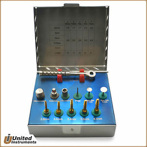 Dental Bone Expander Drill Kit With Saw Disk Oral Surgery Implant Instruments Ce