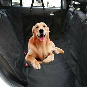Pet Seat Cover Waterproof Car Back Seat Hammock Protector For All Size Dog Black